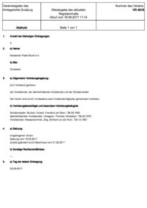 Deutscher Padel Bund Vereinsregister