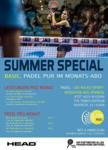 TVN Padel Sommer Angebot