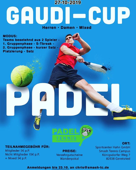 Geretsried Padel Turnier Oktober 2019