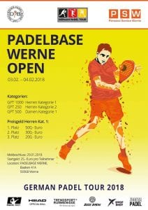 German Padel Tour Padelbase Werne Open 2018