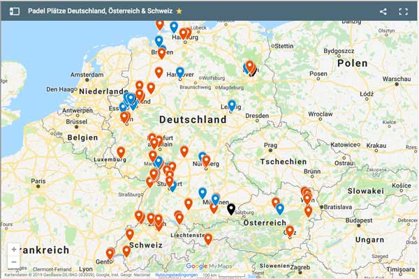 Padel Plätze Deutschland